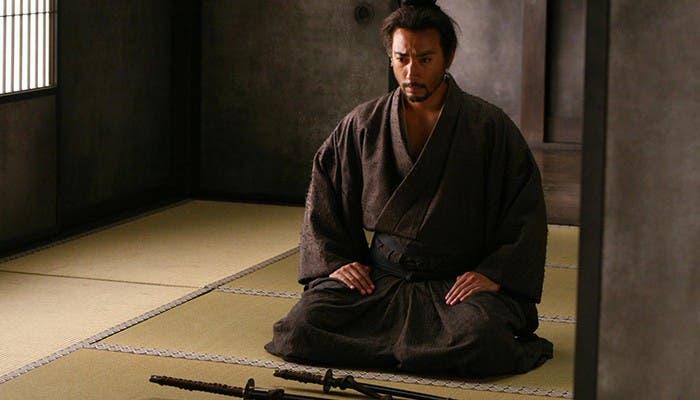 "Ebizo Ichikawa interpretando a Hanshiro en ""Hara-Kiri: Death of a samurai"""