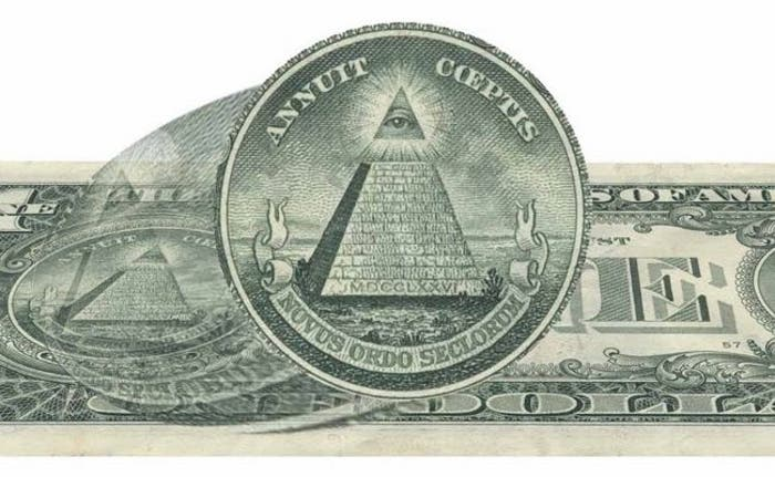 Pirámide truncada presente en el Gran Sello de los Estados Unidos