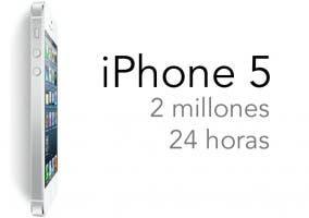 Imagen que promociona los dos millones de reservas de iPhone 5 en 24 horas