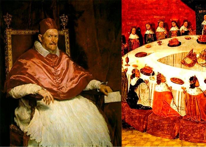 Pinturas sobre la nobleza medieval vestidos de rojo