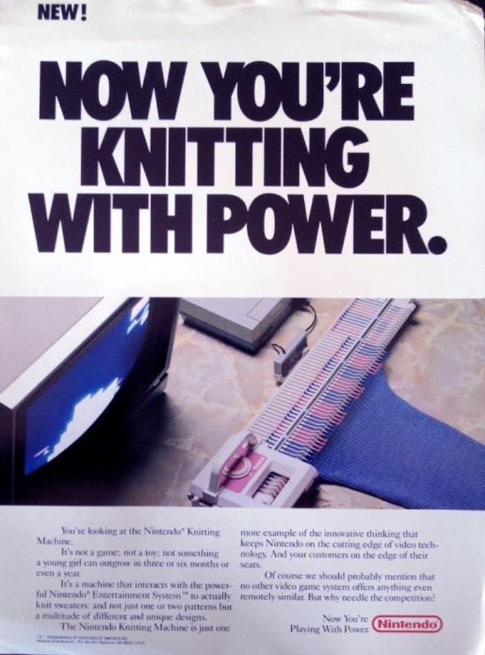Anuncio del accesorio para tejer de la consola NES