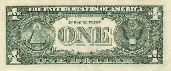 Gran Sello de EEUU en el reverso del billete de dólar