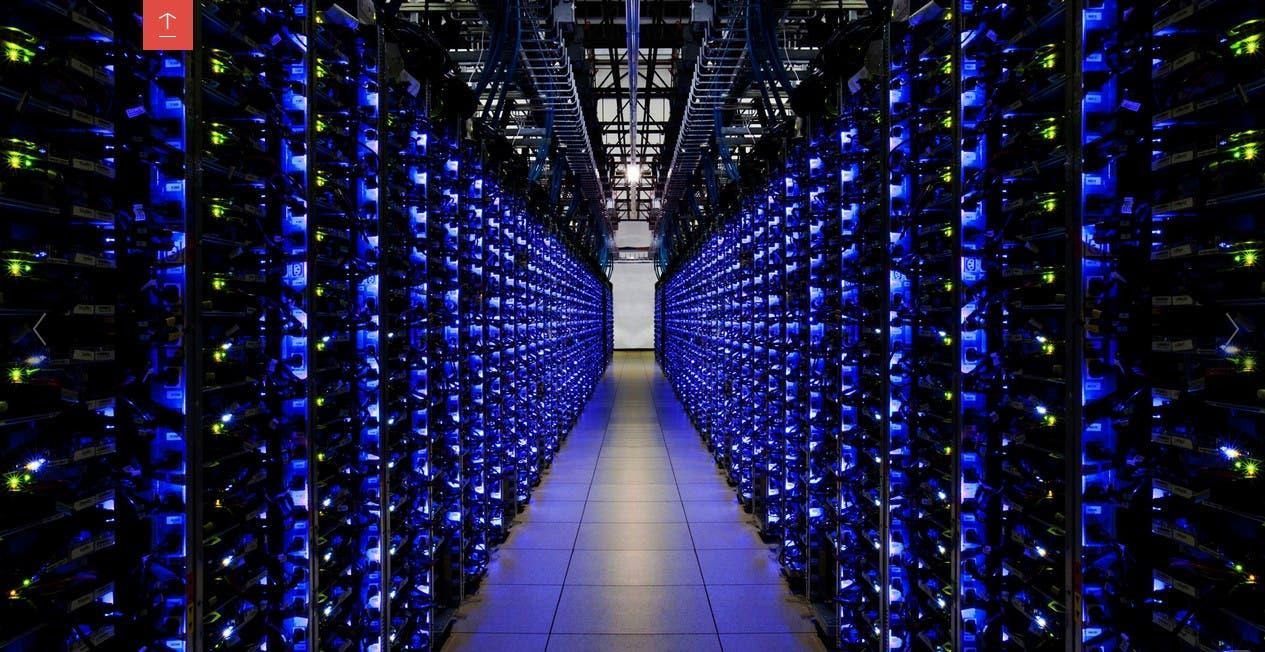 Interior de el Centro de Datos de Google ubicado en Georgia