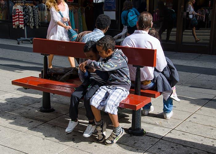 Niños jugando en Estocolmo
