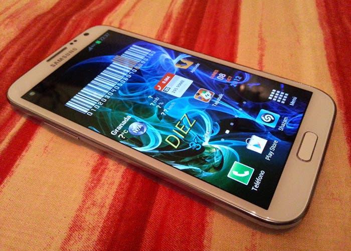 Samsung Galaxy Note II de cerca