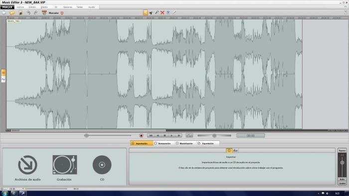 Captura de MAGIX Music Editor