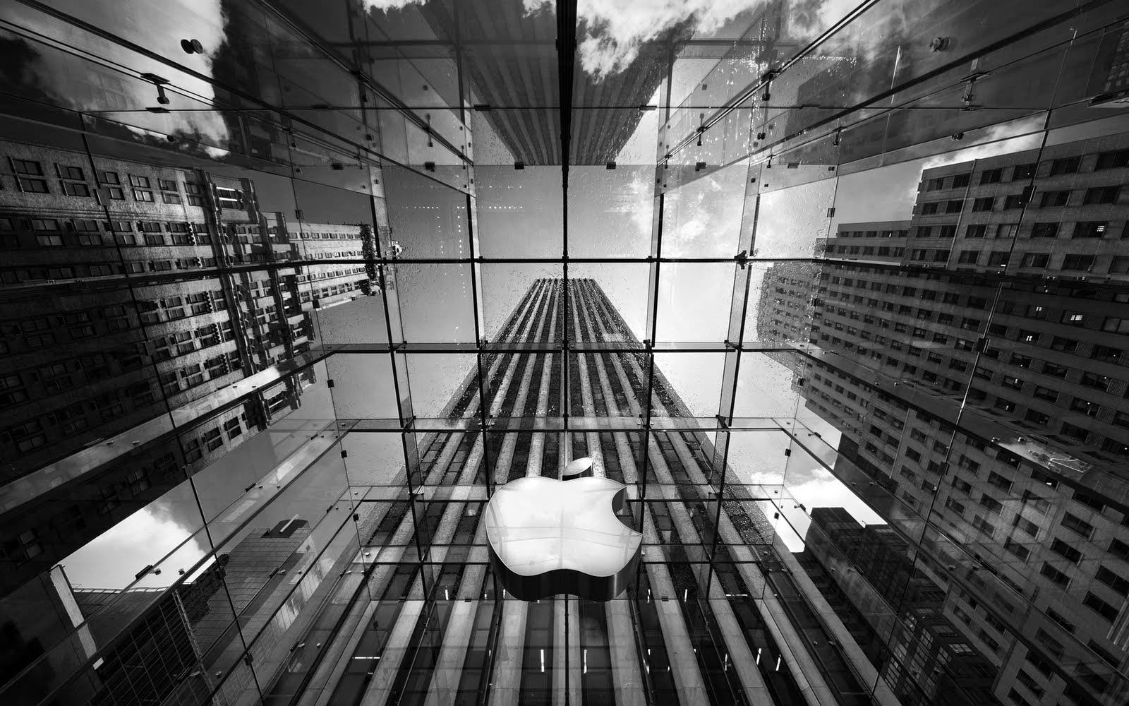 Manzana de Apple en Edificio