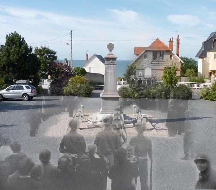 Montaje de Jo Teewisse de fotografía antigua y actual del mismo lugar