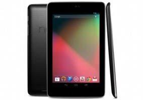 Imagen de un tablet Nexus 7 desde varios ángulos