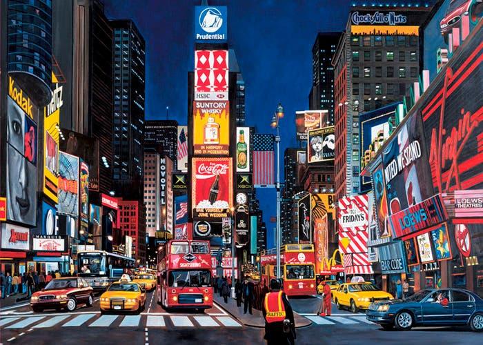 Carteles en Times Square