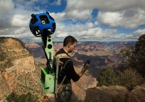 Usando el equipo Trekker para hacer fotografías