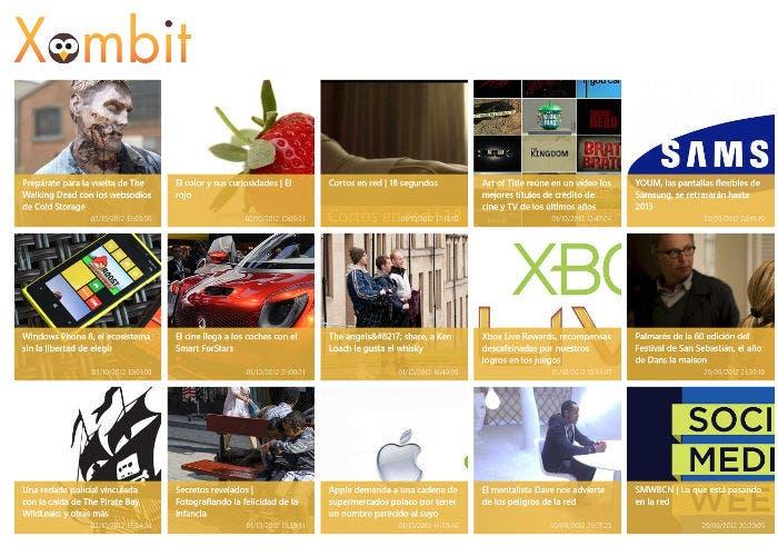 Captura de la aplicación de Xombit para el nuevo Windows 8