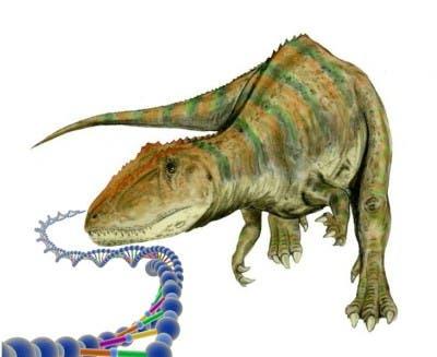 Recreación de un dinosaurio