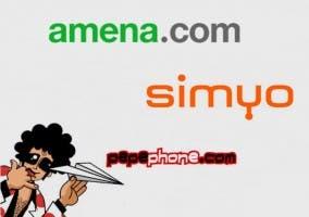 Logotipos de Amena, Pepephone y Simyo