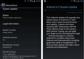 Captura de la actualización a Android 4.2