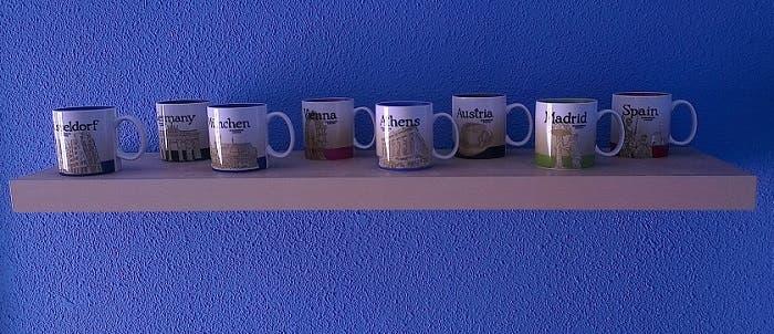 Coleccion de tazas de Starbucks