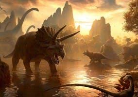 Recreación de diferentes dinosaurios