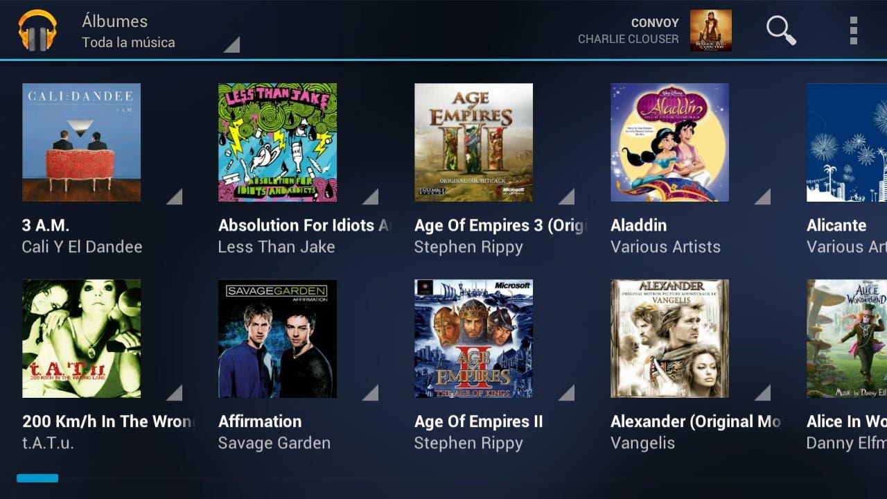 Captura de Google Music Android