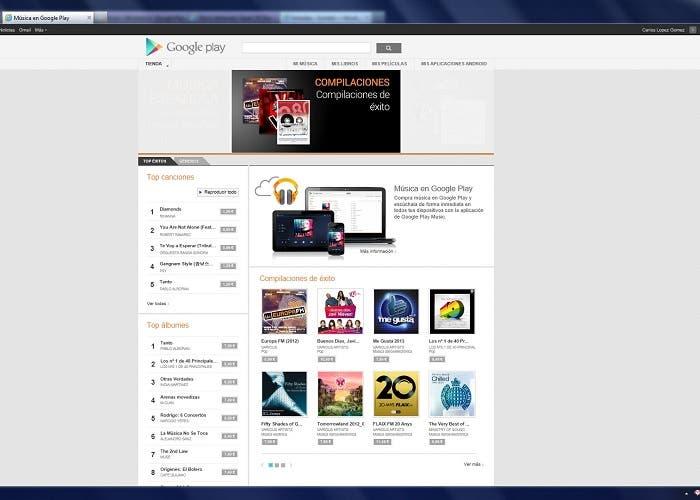 Captura de Google Play Music