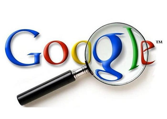 Lupa sobre el logo de Google