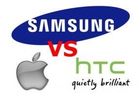 Logos de Samsung, Apple y HTC
