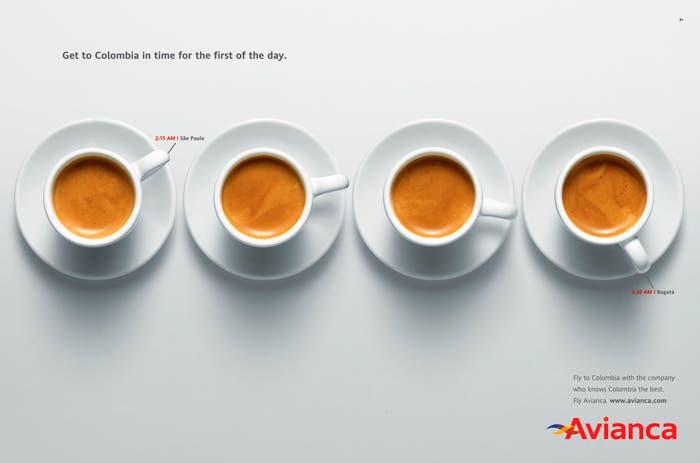 Anuncio café de Avianca