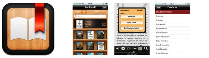 Aplicación Ebook reader para ios