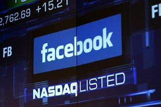 Facebook cotizando en el Nasdaq