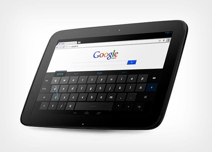 Imagen del tablet Google Nexus 10