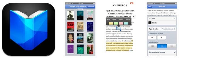 Aplicación google play books para ios