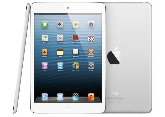 Imagen del un tablet iPad mini de Apple desde varios ángulos