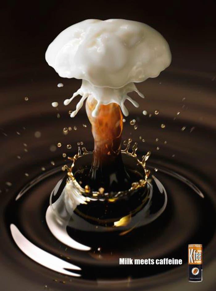Anuncio café exploción