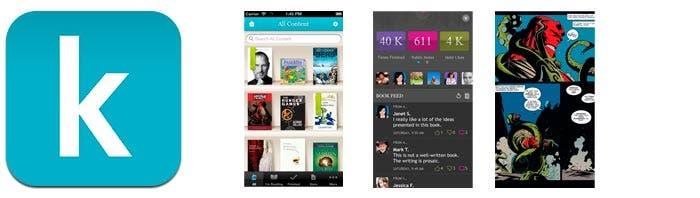 Aplicación de lectura de libros Kobo para iOS