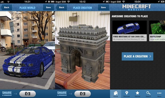 Capturas de la aplicación Minecraft Reality