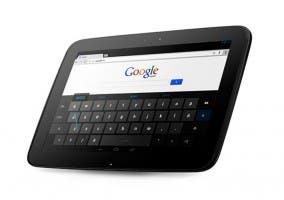 Fotografía del tablet Nexus 10 de Samsung y Google