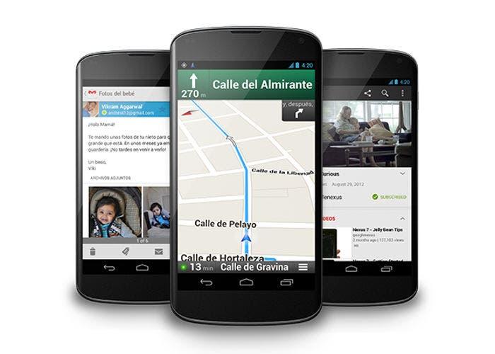 Imagen de varios Nexus 4 de Apple