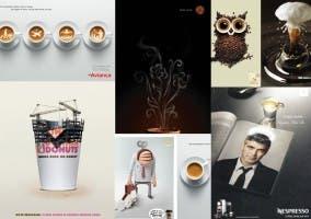 Diferentes anuncios de cafe