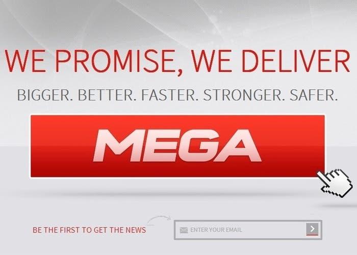 Portada del nuevo servicio de descargas Mega