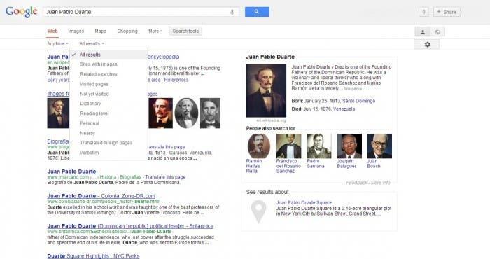 Rediseño de la pantalla de resultado de búsquedas de Google