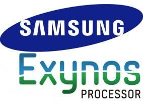 Montaje de los logos de Samsung y de sus procesadores Exynos
