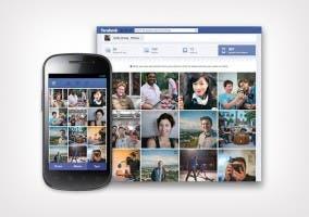 Muestra de sincronización de imágenes del movil con Facebook
