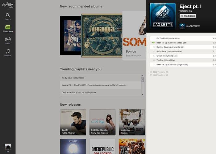 Spotify en el navegador