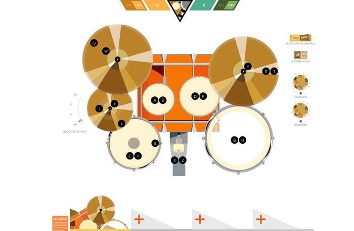 tocando el instrumento con todas las opciones y en modo avanzado, con el teclado