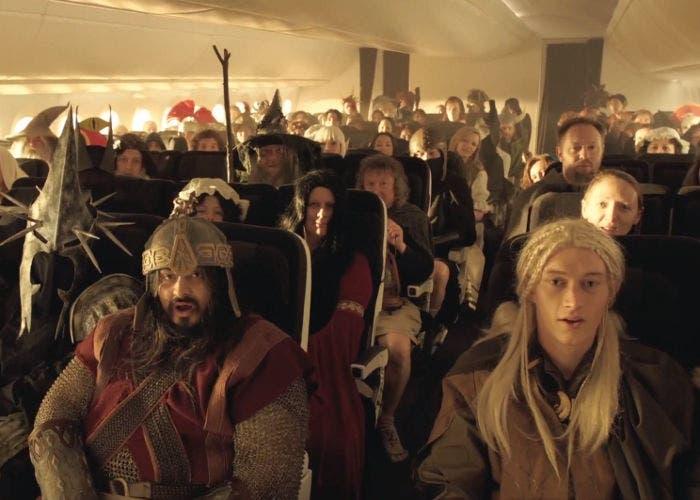 Vídeo de seguridad aérea de Air New Zealand inspirado en El Hobbit