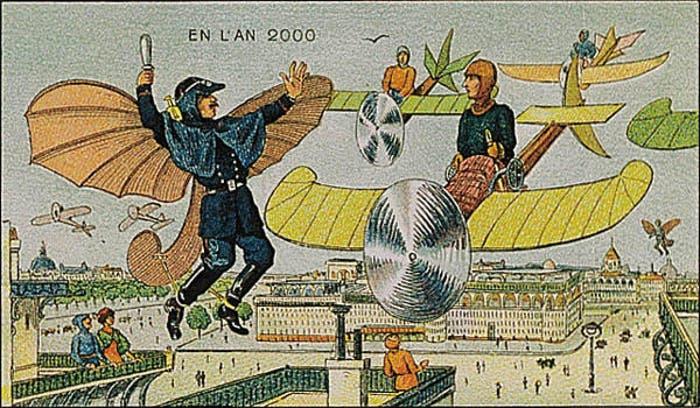 Así pensaban en 1900 que sería el tráfico aéreo en el año 2000