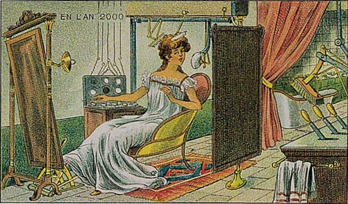 Así pensaban en 1900 que serían los baños del año 2000