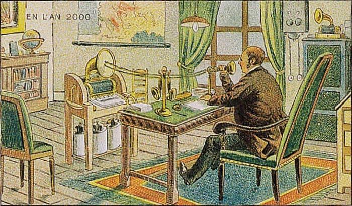 Así pensaban en 1900 que dictaríamos texto en el año 2000