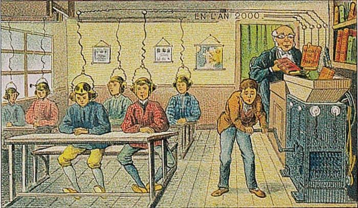 Así pensaban en 1900 que aprenderían los niños en el año 2000