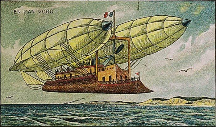 Así pensaban en 1900 que sería el transporte aéreo en el año 2000