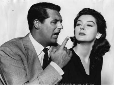 Cary Grant y Rosalind Russell